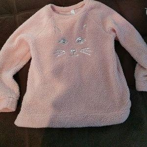 Pink kitten sweater